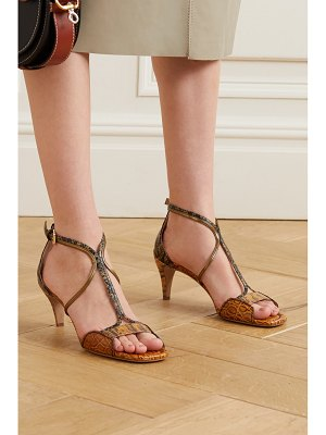 Chloe carla snake- and croc-effect leather sandals