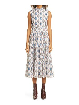 Chloe ceramic print silk habutai midi dress