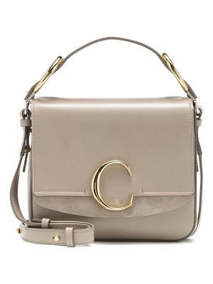 Chloe chloé c small leather shoulder bag
