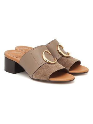 Chloe chloé c suede and leather sandals