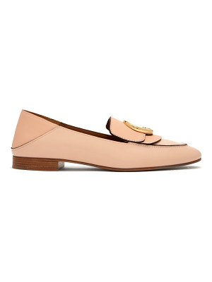 Chloe Chloé Collapsible Heel Leather Loafers