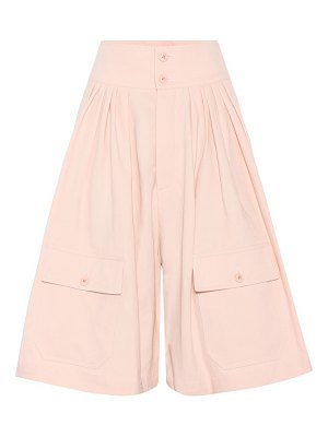 Chloe cotton and linen high-waisted culottes