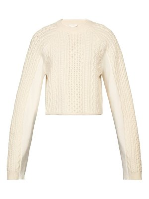 Chloe cropped cable knit sweater