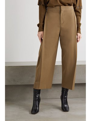 Chloe cropped stretch-twill tapered pants