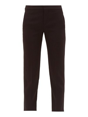 Chloe cropped tailored crepe trousers