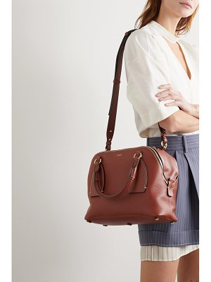 Chloe daria medium textured and smooth leather tote