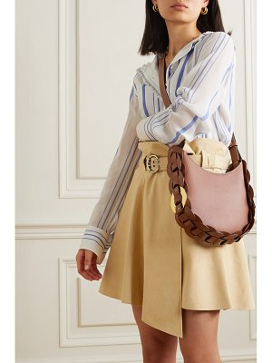 Chloe darryl small braided textured-leather shoulder bag