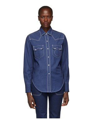 Chloe Denim Cargo Shirt