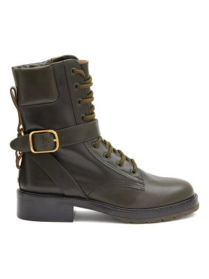 Chloe diane buckled leather boots