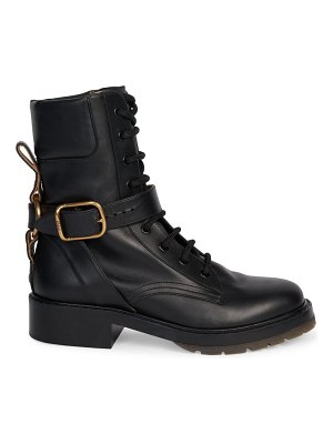 Chloe diane harness lace-up leather combat boots