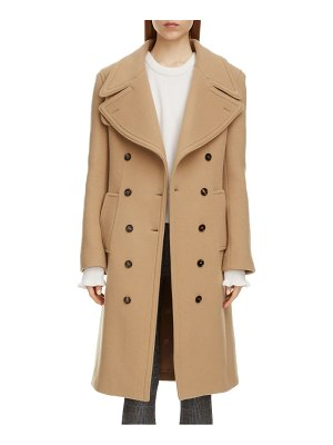Chloe double breasted wool blend coat
