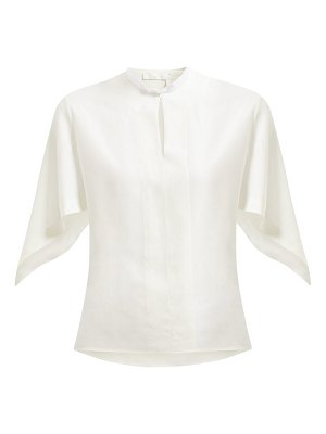 Chloe draped sleeve silk crepe de chine blouse