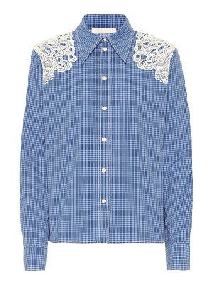 Chloe embroidered checked cotton shirt