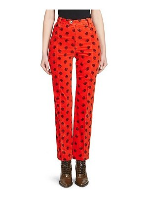 Chloe embroidered corduroy trousers