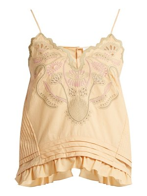 Chloe Embroidered Cotton Voile Camisole Top