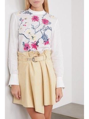 Chloe embroidered linen blouse