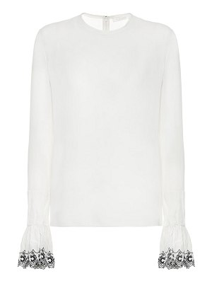 Chloe embroidered silk blouse