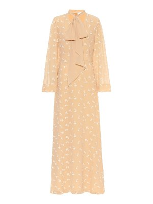 Chloe embroidered silk maxi dress