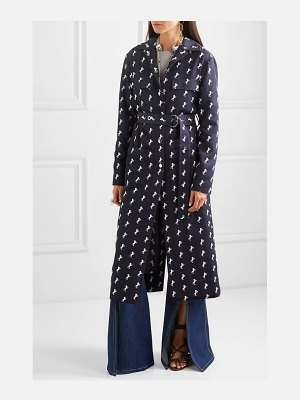 Chloe embroidered wool-twill trench coat