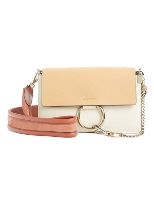 Chloe faye colorblock leather shoulder bag