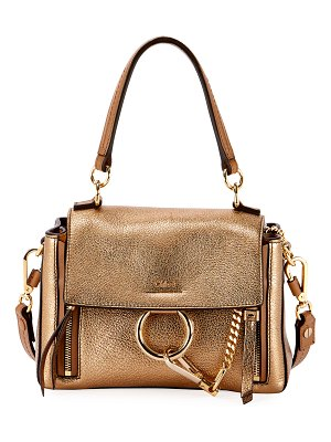 Chloe Faye Day Mini Metallic Satchel Bag