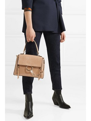 Chloe faye day small croc-effect leather shoulder bag