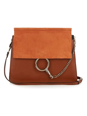 Chloe Faye Medium Leather And Suede Shoulder Bag