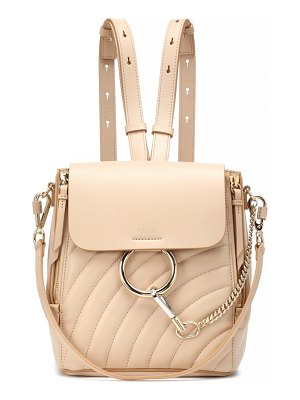 Chloe Faye quilted leather backpack