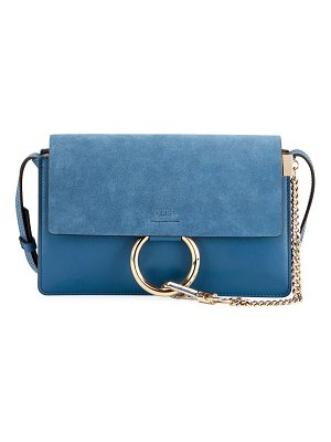Chloe Faye Small Leather/Suede Satchel Bag