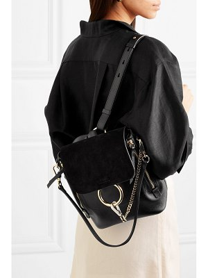 Chloe faye small textured-leather and suede backpack