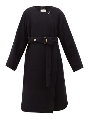 Chloe festive belted wool-blend coat