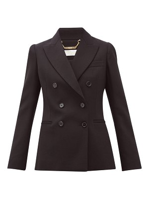 Chloe festive double-breasted wool-blend blazer