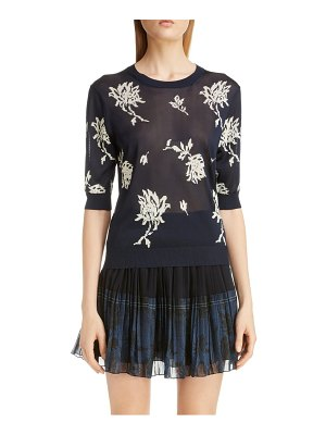 Chloe floral intarsia sweater