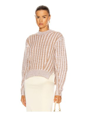 Chloe fluffy cable knit sweater