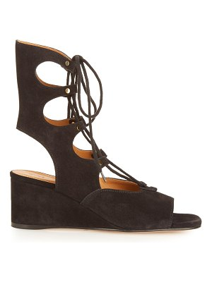 Chloe Foster lace-up wedge sandals
