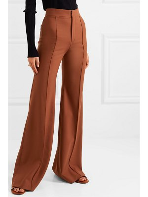 Chloe grain de poudre stretch-wool flared pants