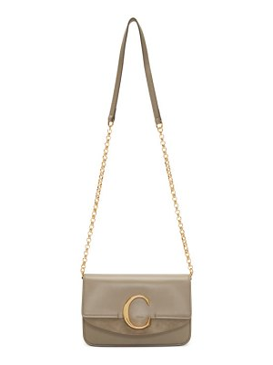 Chloe grey  c chain clutch bag