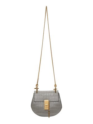 Chloe grey croc mini drew bag