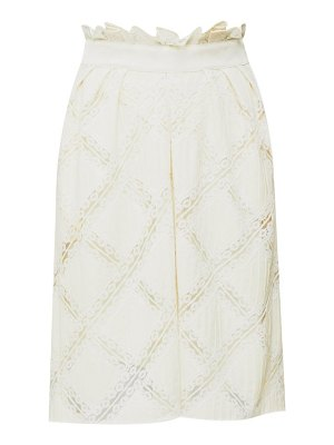 Chloe high-rise lace-trimmed skirt