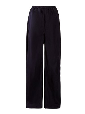 Chloe high-rise straight-leg twill trousers