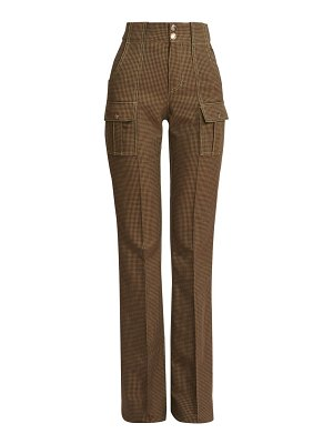 Chloe houndstooth cargo trousers