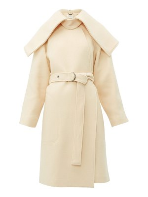 Chloe iconic shawl lapel belted wool blend coat