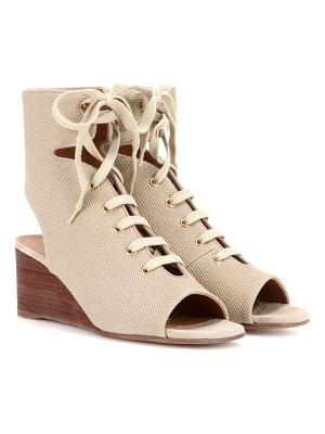Chloe Iness lace-up wedge sandals