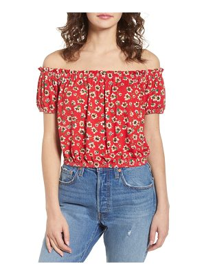 Chloe & Katie floral off the shoulder top