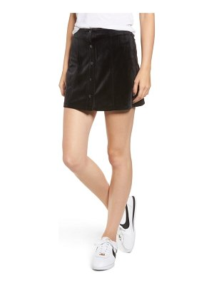 Chloe & Katie snap front faux suede skirt