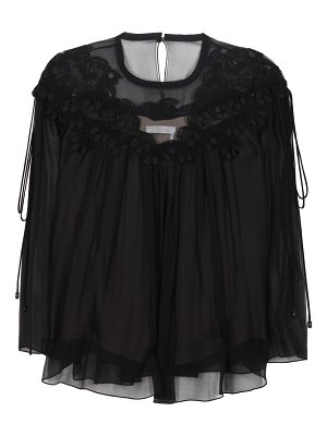 Chloe lace-trimmed silk top