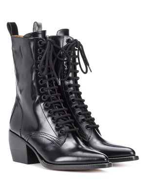 Chloé lace-up leather boots