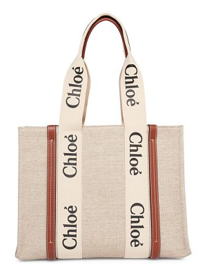 Chloe large woody canvas tote