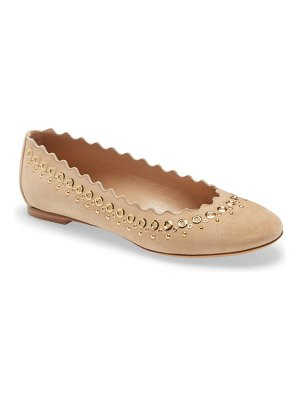 Chloe lauren scalloped studded ballet flat