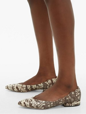 Chloe laurena lizard effect leather flats